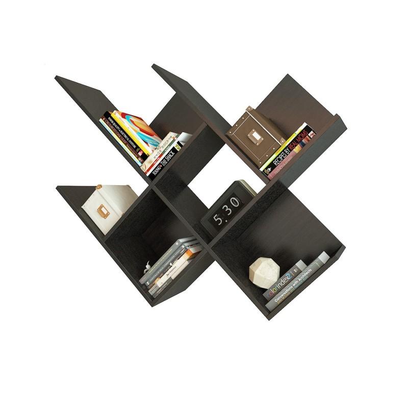 Открытая вертикальная полка для книг из ламинированного ДСП 936×1248×296 Венге (ПК-11-венге)