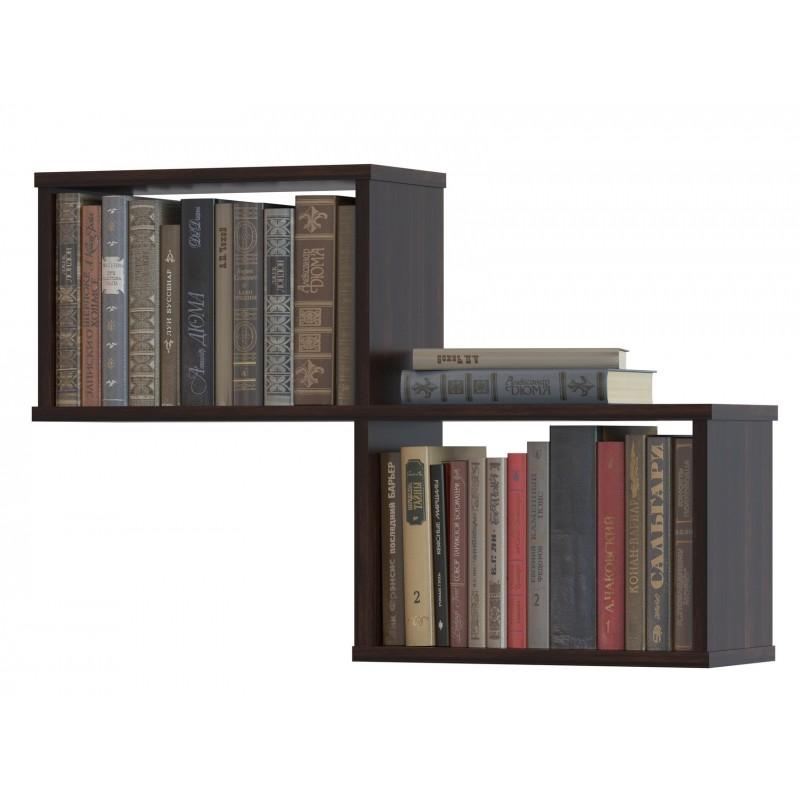 Полка книжная на две секции 520×780×196 Венге ( ПК-2-венге)