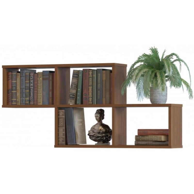 Навесная полка для книг из ЛДСП 520 ×1150×196 Дуб сонома (ПК-4- дуб сонома)
