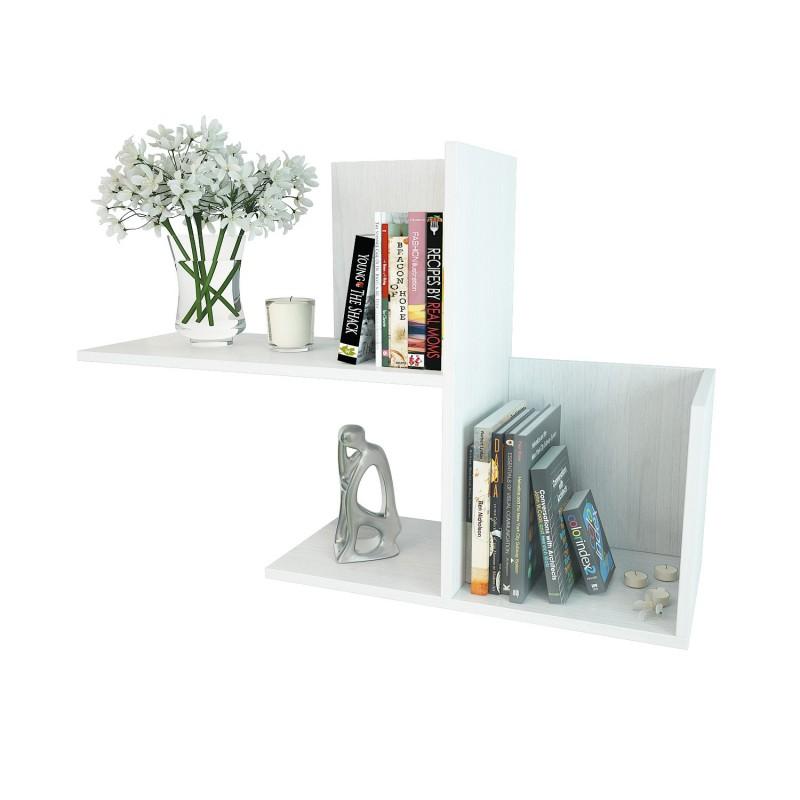 Полка для книг и цветов из ЛДСП 624×936×296 Белый (ПК-9-белый)
