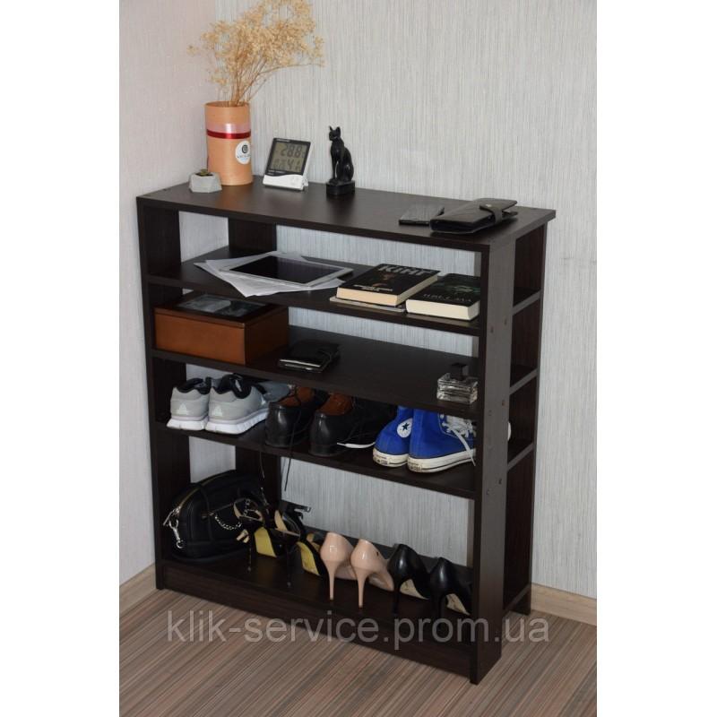 Вместительная и удобная обувница 910х600х320 Венге (ПО-600-венге)
