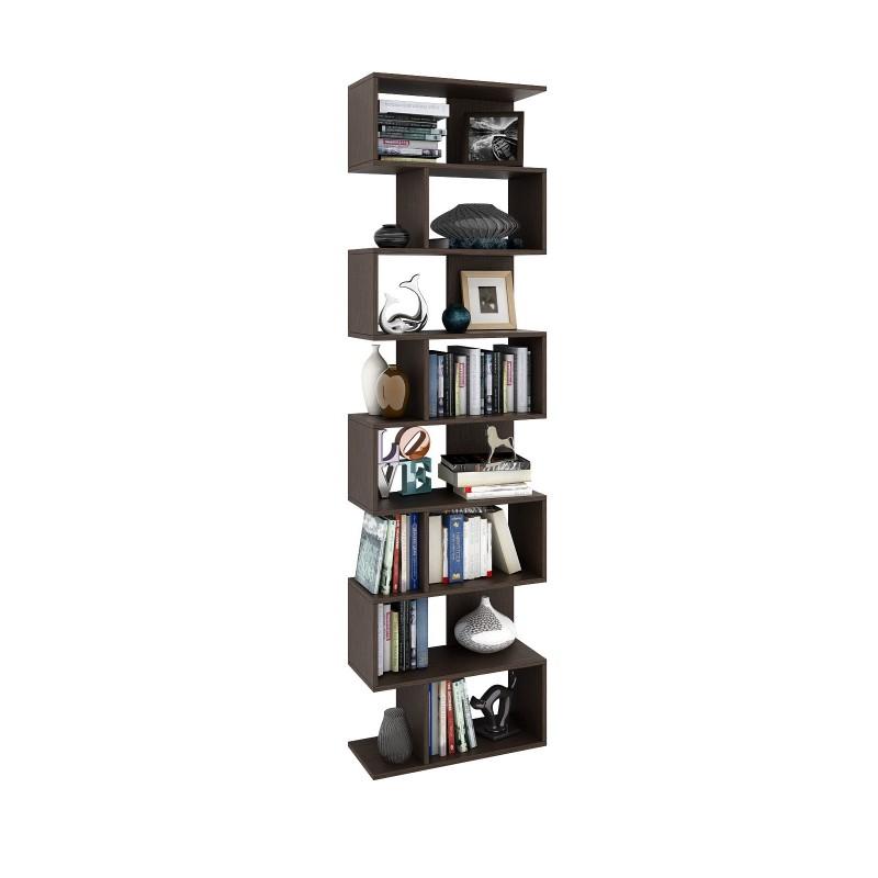 Стильный стеллаж для книг и предметов декора 2150×600×250 Венге (СТ-600-венге)
