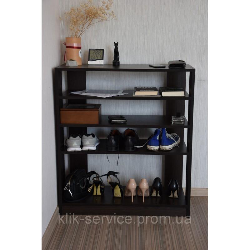 Вместительный стеллаж для гостиной и прихожей 900х975х320 Венге (СТ-975-венге)