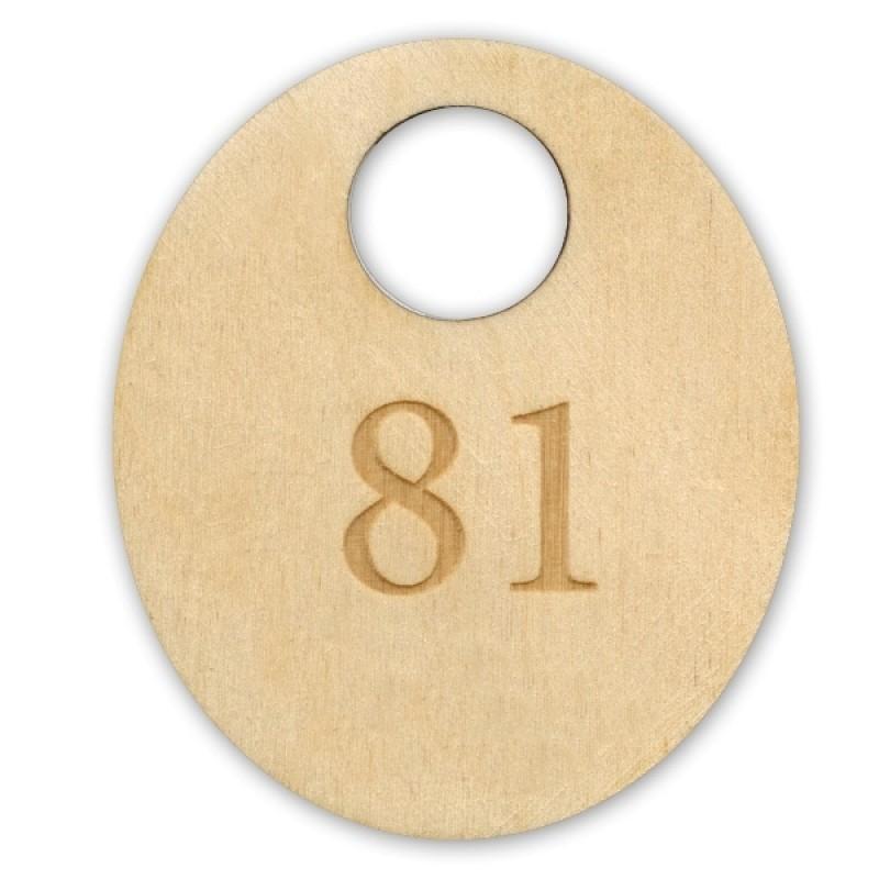 Номерок из дерева без логотипа
