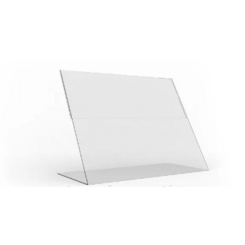 Ценникодержатель из акрила А4 формата горизонтальный