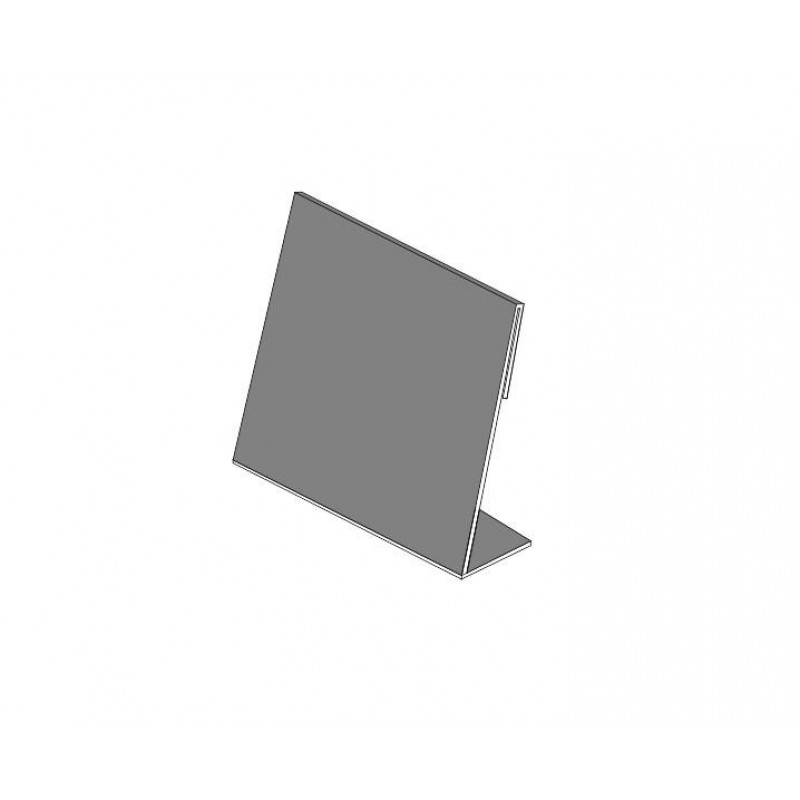 Ценник L-образный 65 x 101 x 1.8 мм.